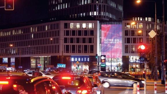 Pierwsza kurtyna ledowa w Polsce działa już w Placu Unii