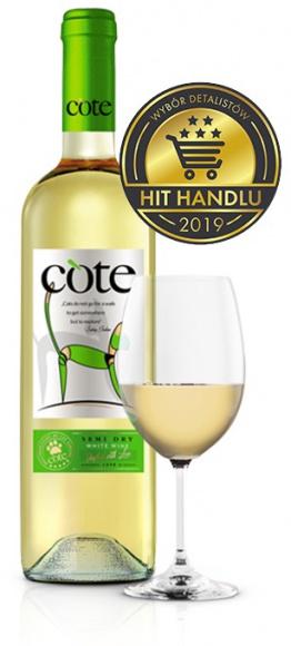 Wino Cote White Semi Dry – najczęściej kupowanym winem stołowym półwytrawnym